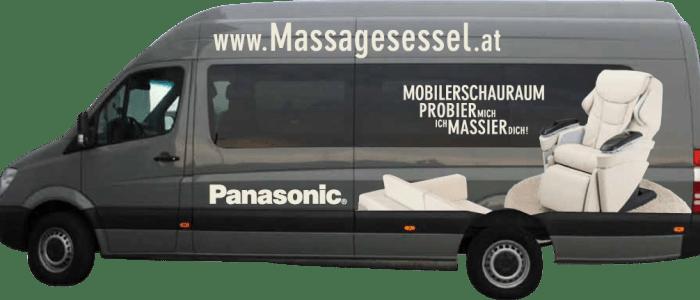 Wir kommen zu Ihnen mit unserem Schaumobil - mieten Sie Ihren Massagesessel