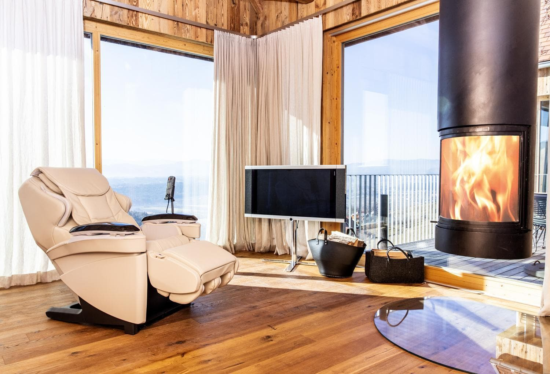 so gemütlich kann es zu Hause mit Ihrem Panasonic Hot Stone Massagesessel sein - massagesessel.at