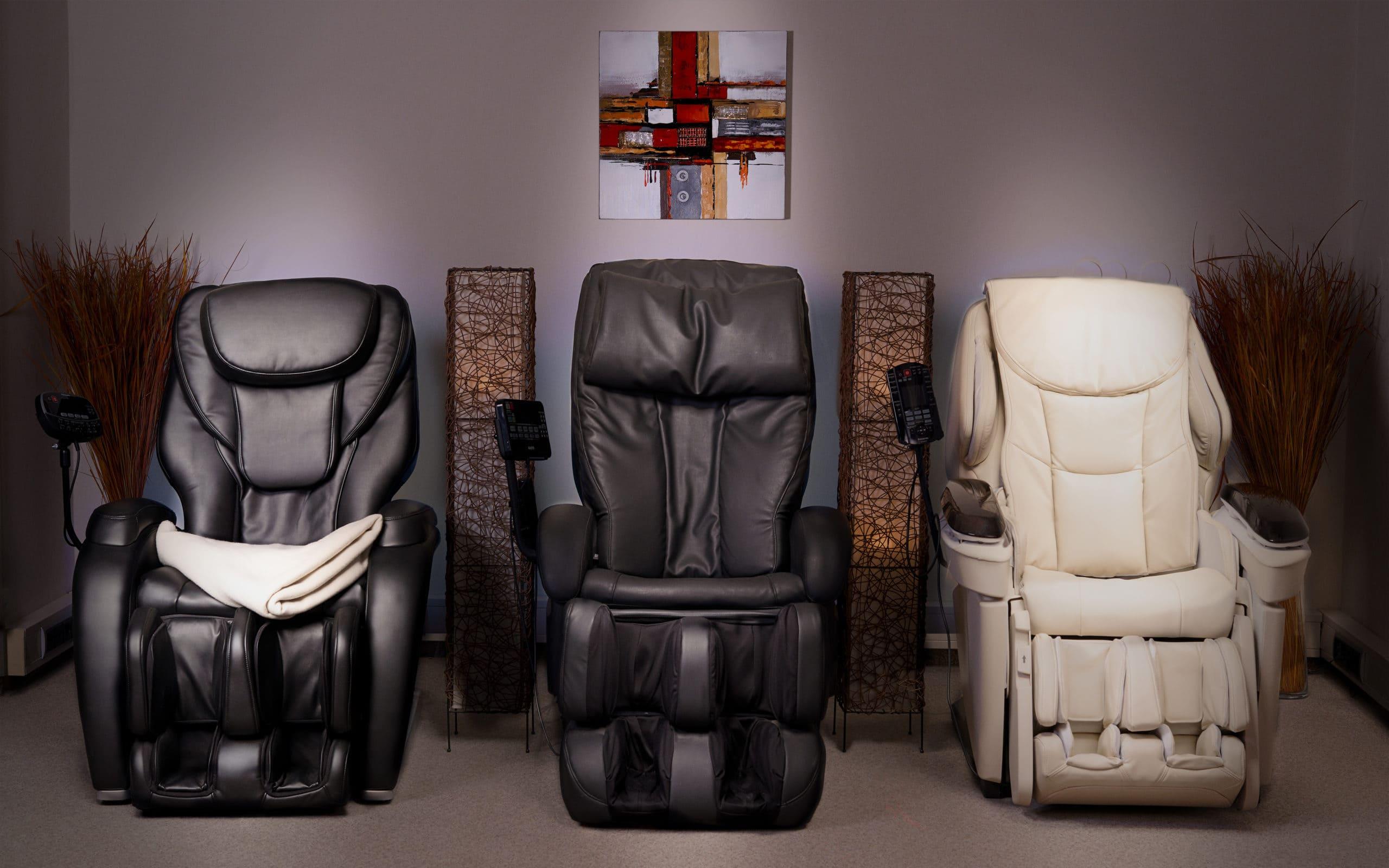 massagesessel Panasonic & Sanyo im Schauraum von massagesessel.at